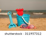 Sand Toys On The Beach Of Lake...