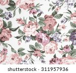 vintage style of tapestry... | Shutterstock . vector #311957936