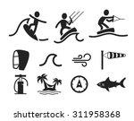surfing flat icon   Shutterstock .eps vector #311958368