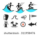surfing icons | Shutterstock .eps vector #311958476