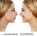 comparative portrait of female... | Shutterstock . vector #311958785