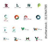 set of colorful abstract letter ... | Shutterstock .eps vector #311964785