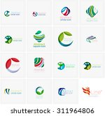 set of abstract wavy elements.... | Shutterstock .eps vector #311964806