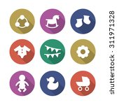 a vector graphic icon set for...