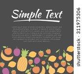 fresh fruit   design concept.... | Shutterstock .eps vector #311975306