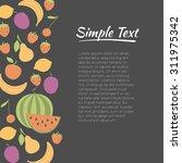 fresh fruit   design concept.... | Shutterstock .eps vector #311975342