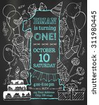 Chalk First Birthday Invitation ...
