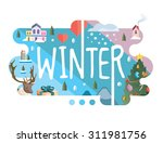 season collection   winter flat ... | Shutterstock .eps vector #311981756