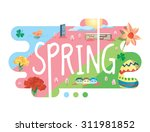 season collection   spring flat ... | Shutterstock .eps vector #311981852