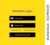 mobile vector user ui kit form...