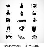 wedding icon set  | Shutterstock . vector #311983382