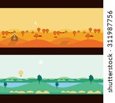 background seamless scenery... | Shutterstock .eps vector #311987756