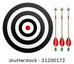 target with arrows | Shutterstock .eps vector #31200172