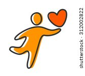 person with a heart   the idea... | Shutterstock .eps vector #312002822