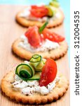 Bite Size Canapes With Ricotta...