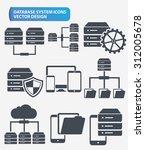 data networking and database... | Shutterstock .eps vector #312005678