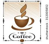 coffee menu | Shutterstock .eps vector #312005852