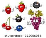 assorted fresh cartoon berries...