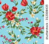 floral seamless pattern with... | Shutterstock .eps vector #312008435