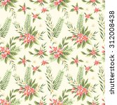 floral seamless pattern with... | Shutterstock .eps vector #312008438
