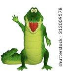 cute crocodile character | Shutterstock . vector #312009578