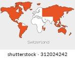 a flag illustration inside the... | Shutterstock . vector #312024242