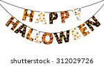 halloween orange and black... | Shutterstock . vector #312029726