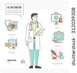 professional doctor infographic ... | Shutterstock .eps vector #312039308
