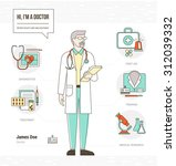 professional doctor infographic ... | Shutterstock .eps vector #312039332