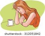 tired women | Shutterstock .eps vector #312051842