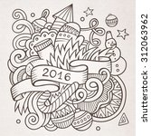 2016 new year doodles elements... | Shutterstock .eps vector #312063962