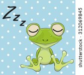 Sleeping Frog In A Cap On A...