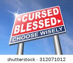 blessed cursed sacred and... | Shutterstock . vector #312071012