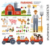farming infographic elements... | Shutterstock .eps vector #312083765