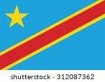 flag of democratic republic of... | Shutterstock .eps vector #312087362