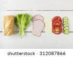 ingredients for sandwich ... | Shutterstock . vector #312087866