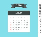 august calendar 2016. vector... | Shutterstock .eps vector #312095702