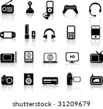a set of modern icon... | Shutterstock .eps vector #31209679
