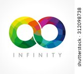 infinity colored logo. stained... | Shutterstock .eps vector #312098738