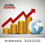 global economy money design ... | Shutterstock .eps vector #312112232