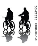 vector image of cyclists.... | Shutterstock .eps vector #31213402
