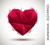 red heart geometric icon made... | Shutterstock . vector #312144422