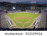 grandstands overlooking home... | Shutterstock . vector #312159416