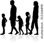 family silhouettes | Shutterstock .eps vector #312166898