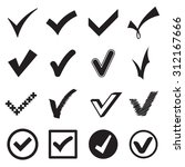 check mark icons. vector... | Shutterstock .eps vector #312167666