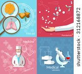 medicine blood donation... | Shutterstock .eps vector #312168872