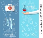 medical banners blood donation... | Shutterstock .eps vector #312169502