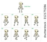animation of skeleton walking.... | Shutterstock .eps vector #312175286