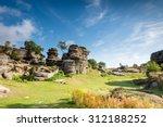 Brimham Rocks On A Sunny Day  ...