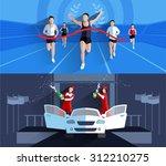 winner horizontal banners... | Shutterstock .eps vector #312210275